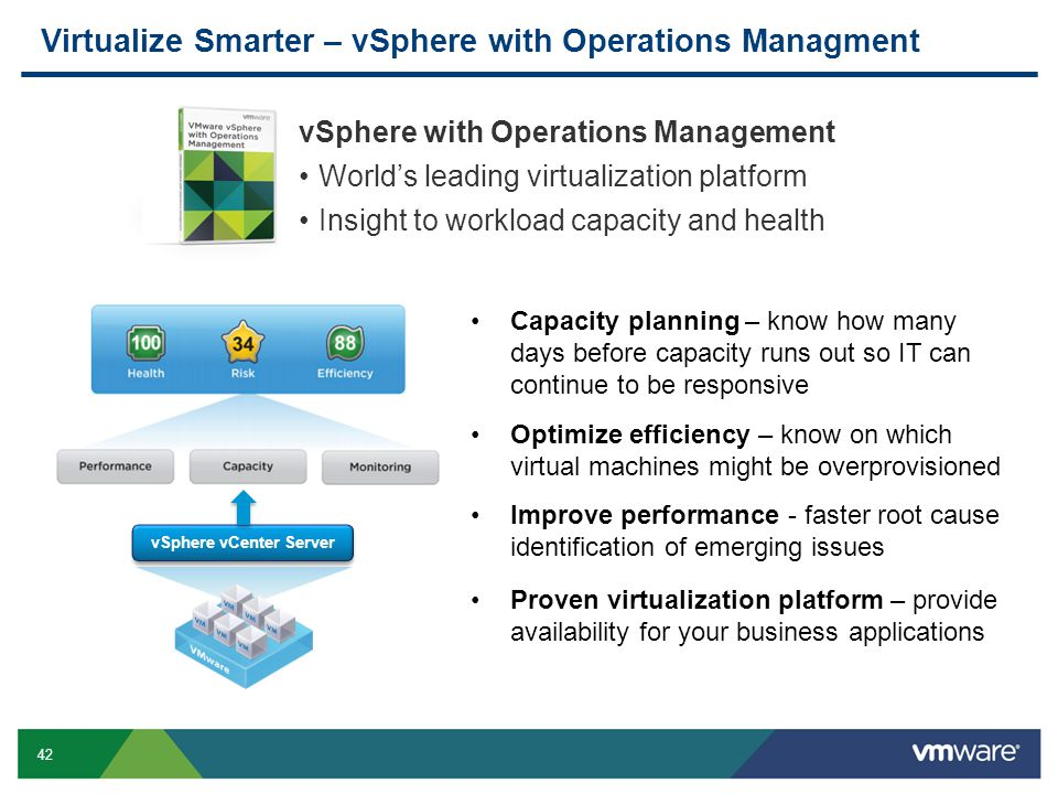 Virtualize Smarter – vSphere with Operations Managment