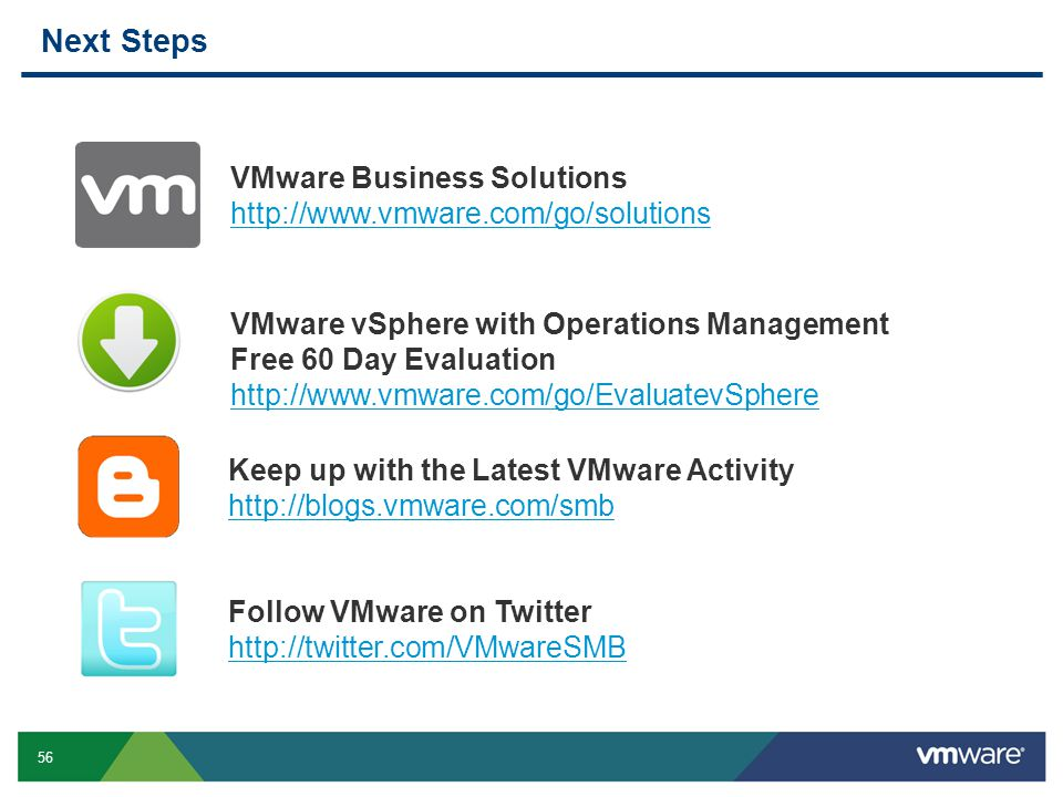 Next Steps VMware Business Solutions