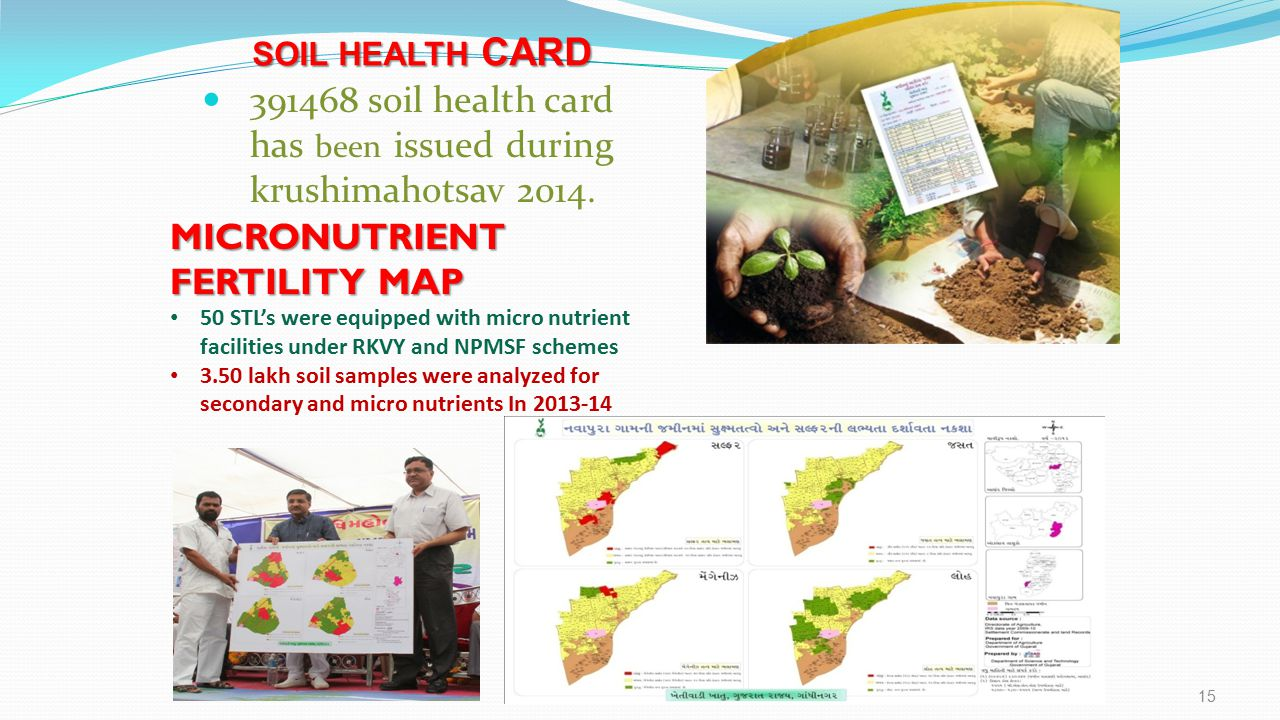 391468 soil health card has been issued during krushimahotsav 2014.