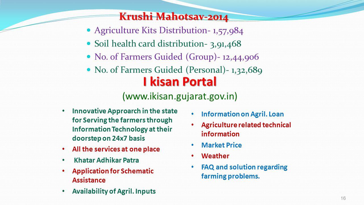 I kisan Portal (www.ikisan.gujarat.gov.in) Krushi Mahotsav-2014