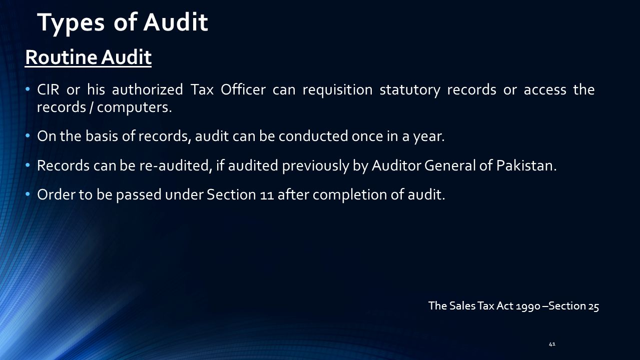 Types of Audit Routine Audit