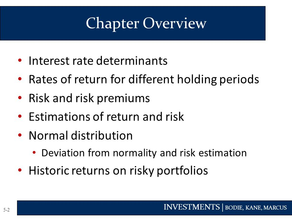 Chapter Overview Interest rate determinants