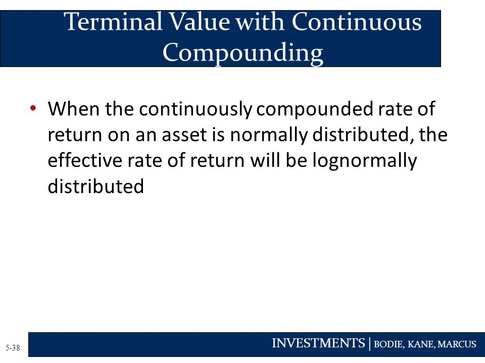 Terminal Value with Continuous Compounding