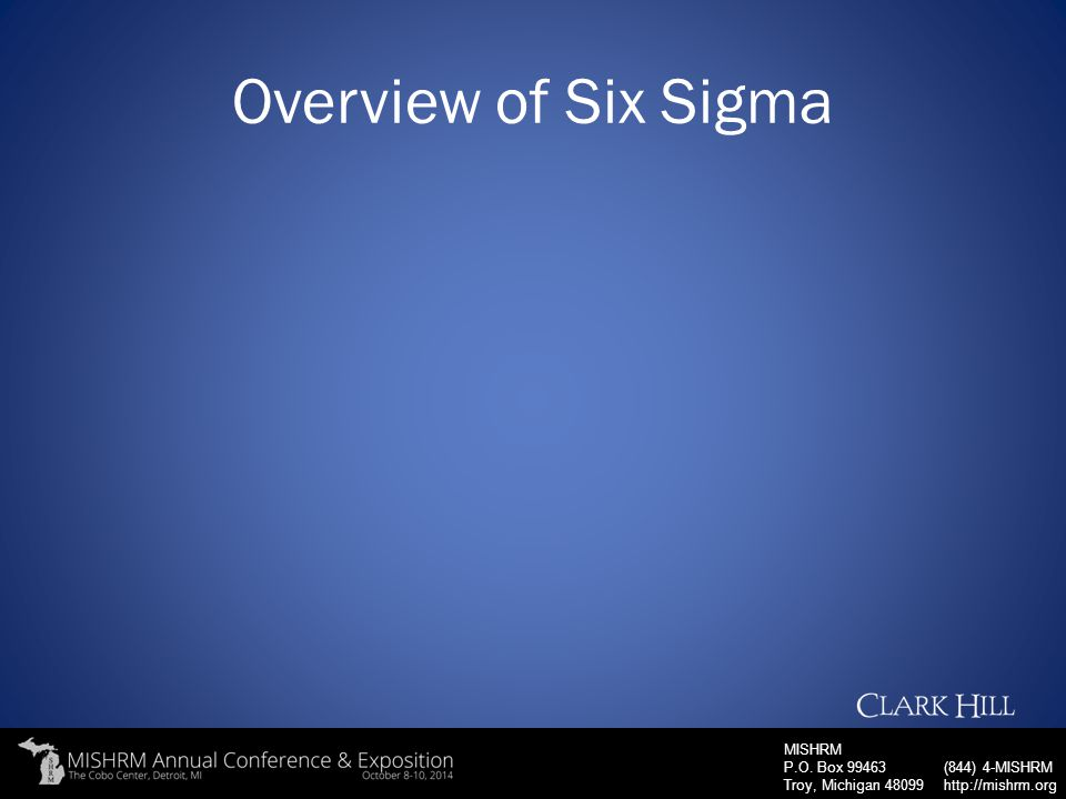 Overview of Six Sigma