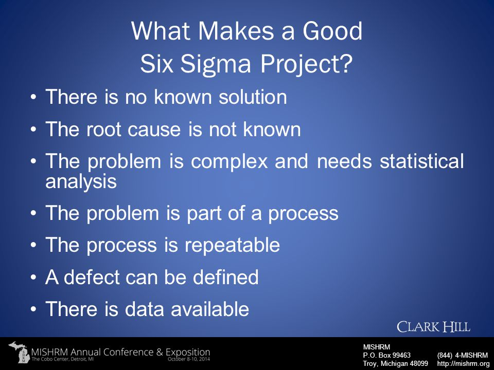 What Makes a Good Six Sigma Project