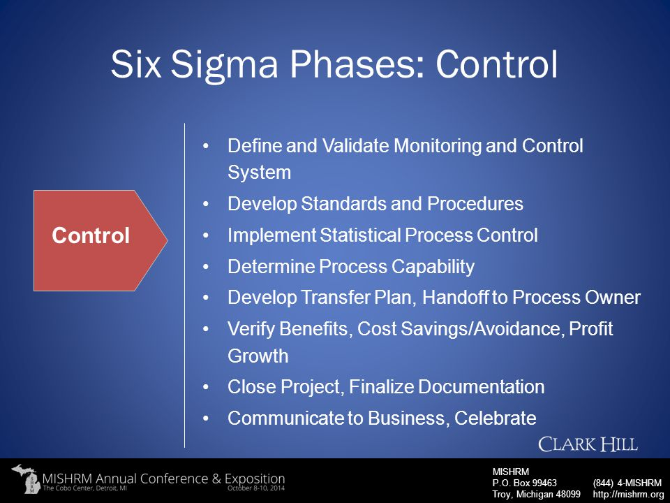 Six Sigma Phases: Control