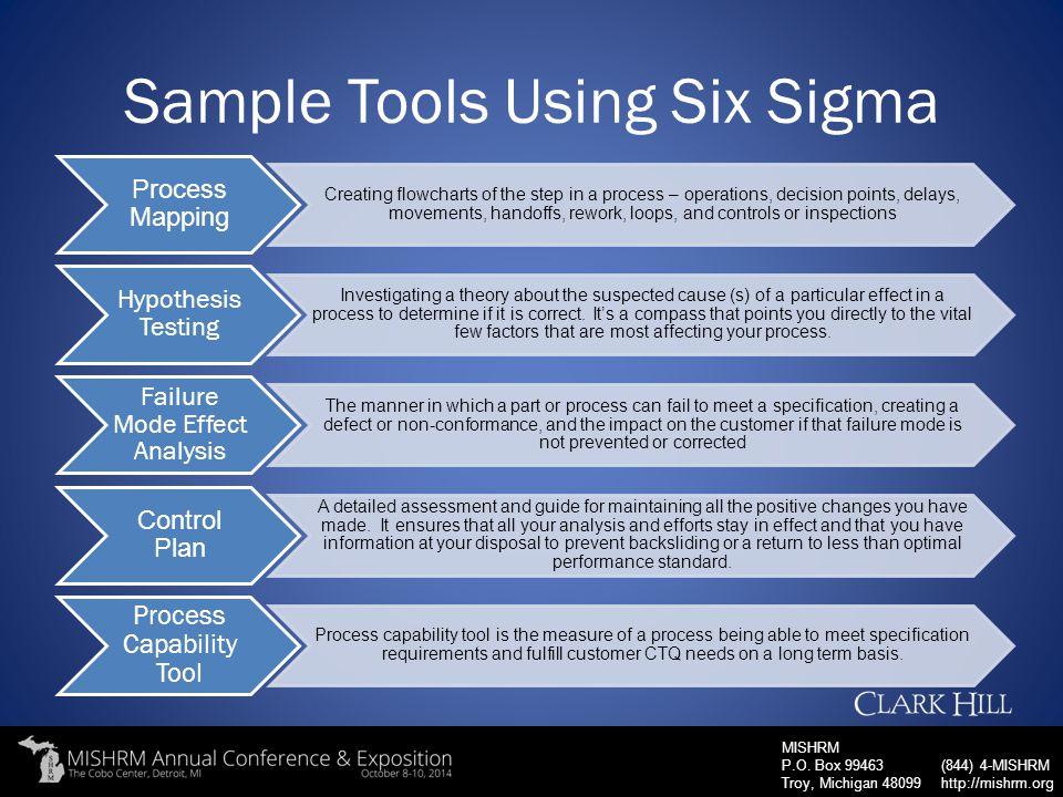Sample Tools Using Six Sigma