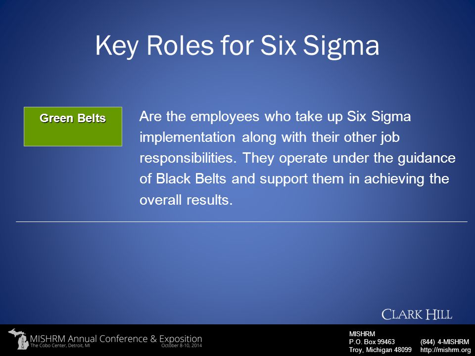 Key Roles for Six Sigma