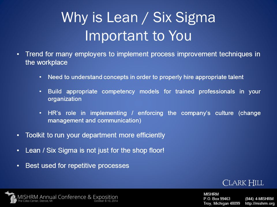 Why is Lean / Six Sigma Important to You