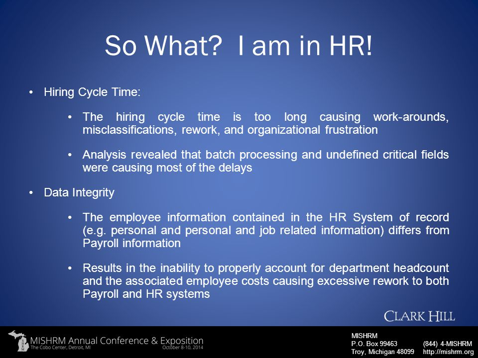 So What I am in HR! Hiring Cycle Time: