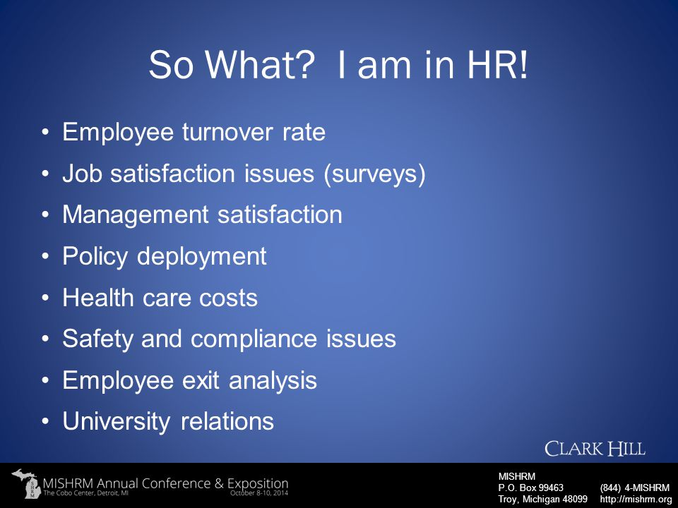 So What I am in HR! Employee turnover rate