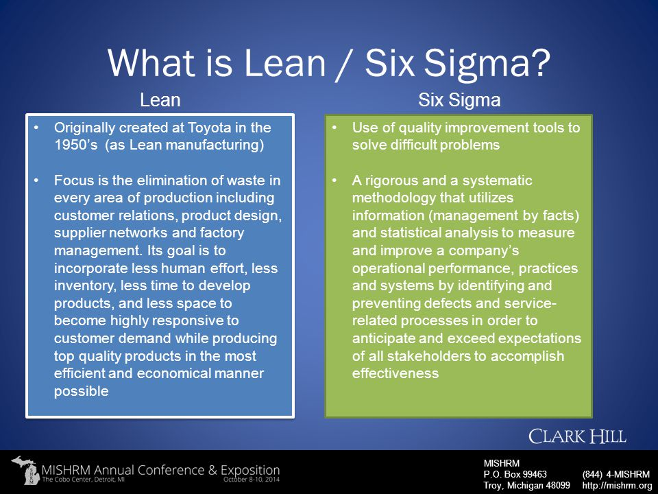 What is Lean / Six Sigma Lean Six Sigma