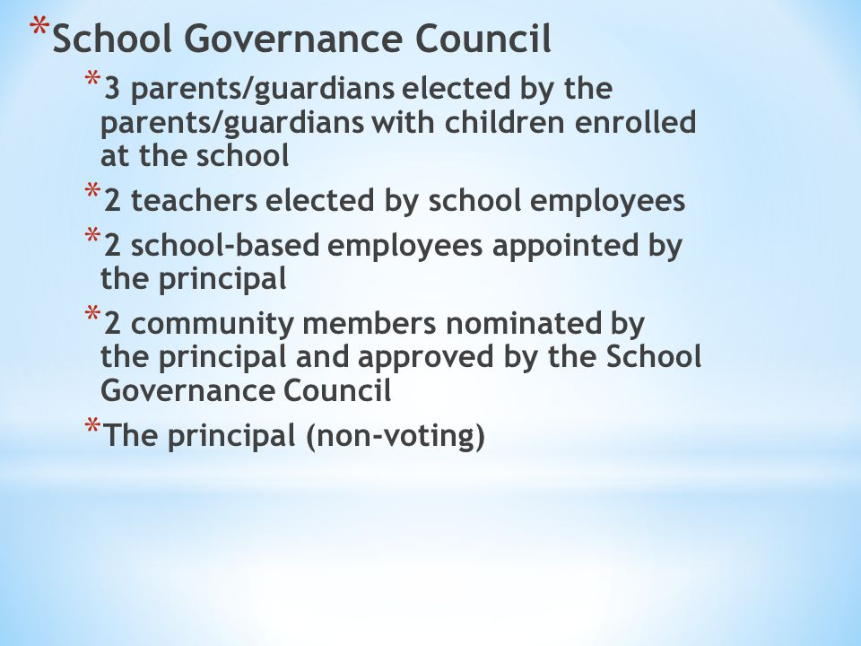 School Governance Council