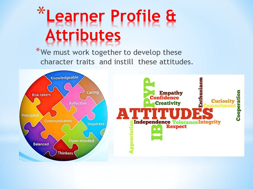 Learner Profile & Attributes