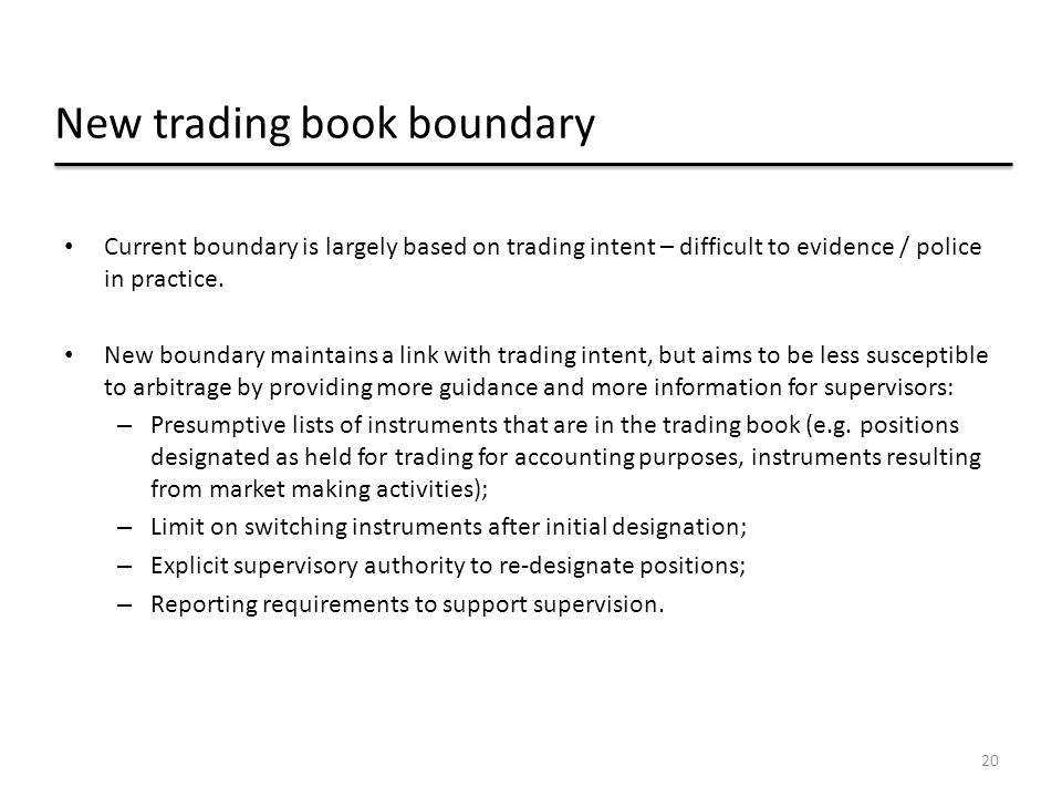 New trading book boundary
