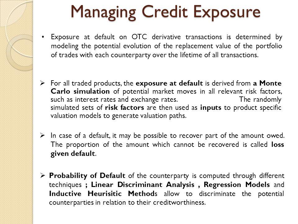 Managing Credit Exposure