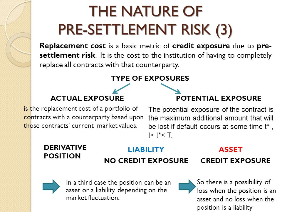 THE NATURE OF PRE-SETTLEMENT RISK (3)