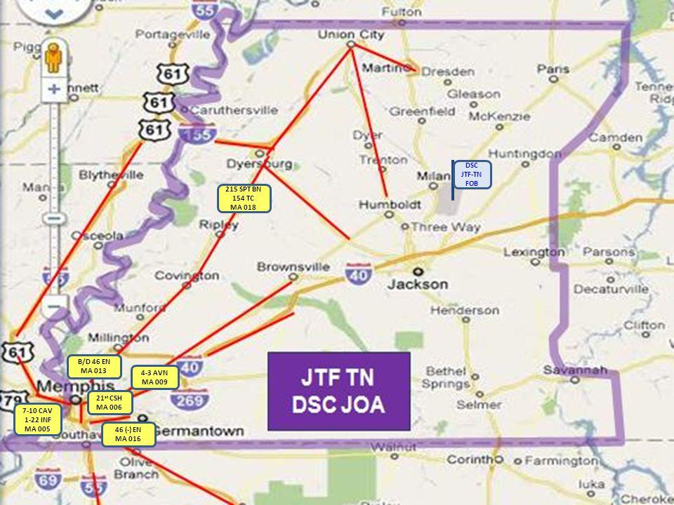 BSI JTF TN DSC JOA TN JFO BSI: Ft Campbell, KY JTF-TN DSC FOB