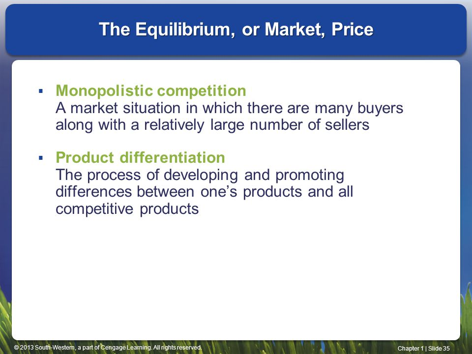 The Equilibrium, or Market, Price