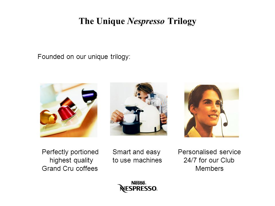 The Unique Nespresso Trilogy