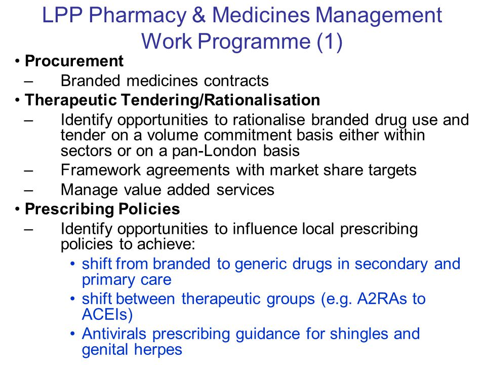 LPP Pharmacy & Medicines Management Work Programme (1)