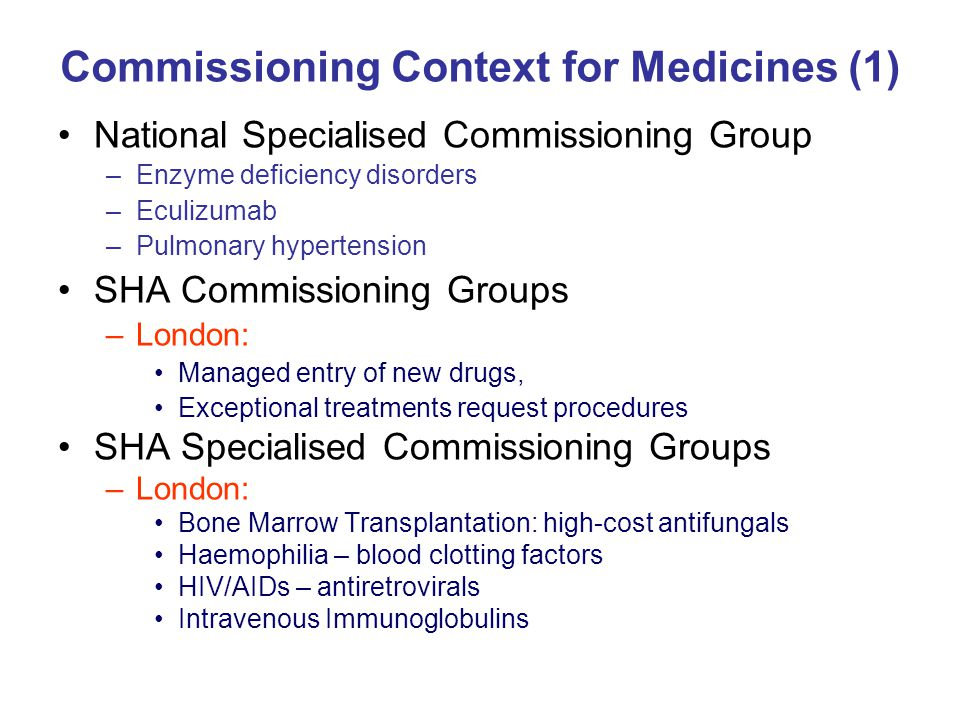 Commissioning Context for Medicines (1)