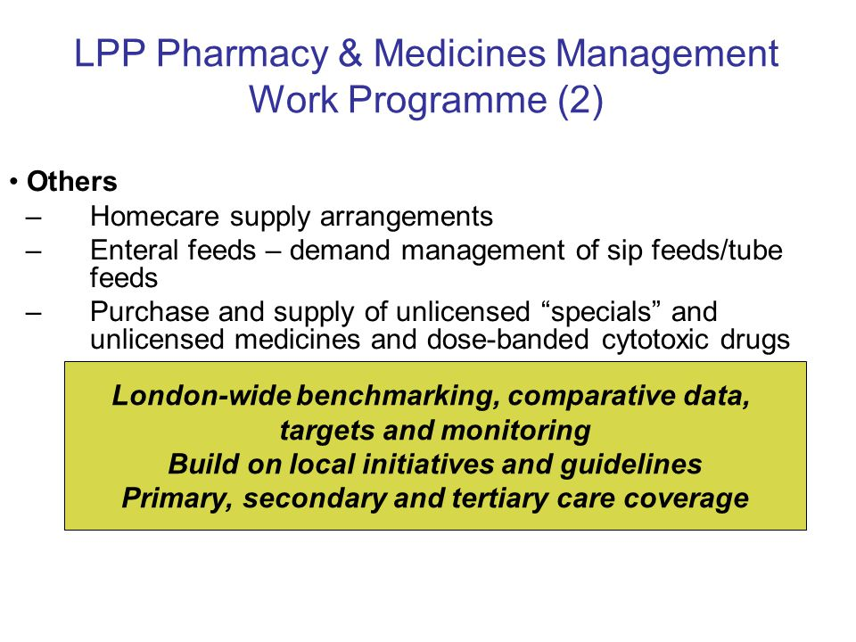 LPP Pharmacy & Medicines Management Work Programme (2)