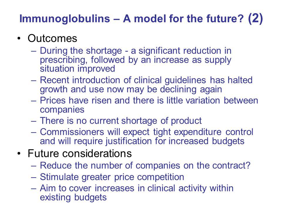 Immunoglobulins – A model for the future (2)