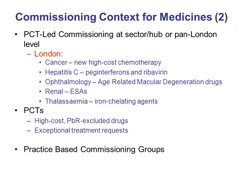 Commissioning Context for Medicines (2)