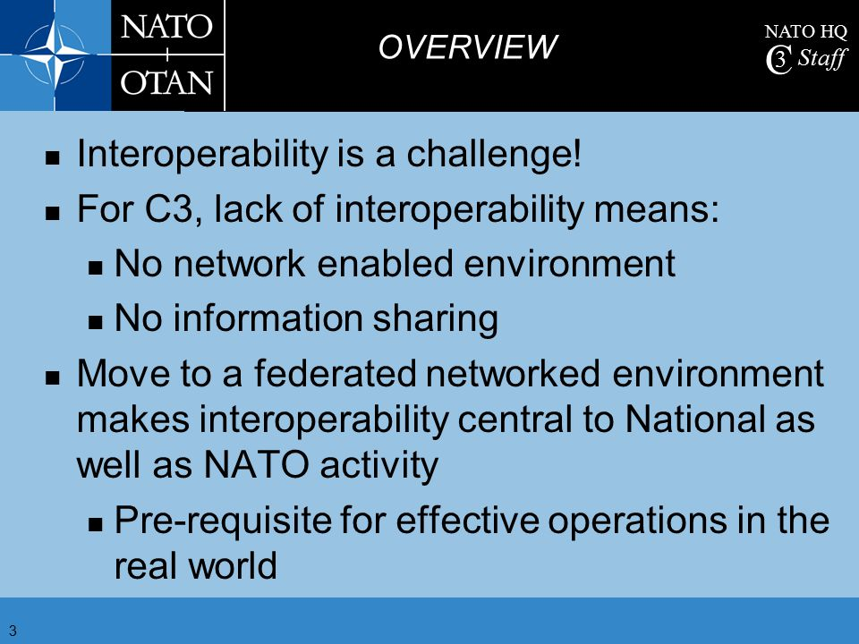 Interoperability is a challenge!