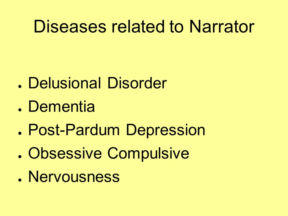 Diseases related to Narrator