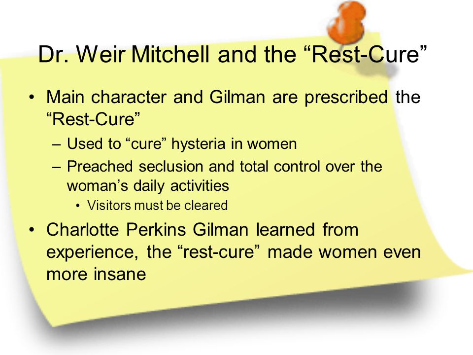 Dr. Weir Mitchell and the Rest-Cure