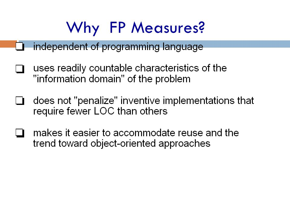 Why FP Measures