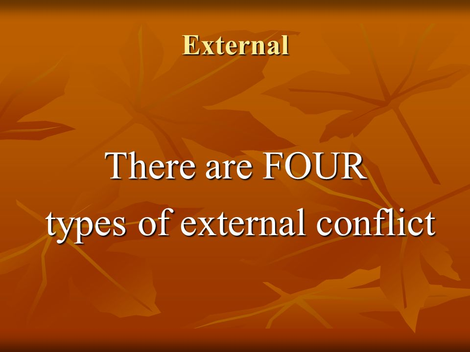 types of external conflict