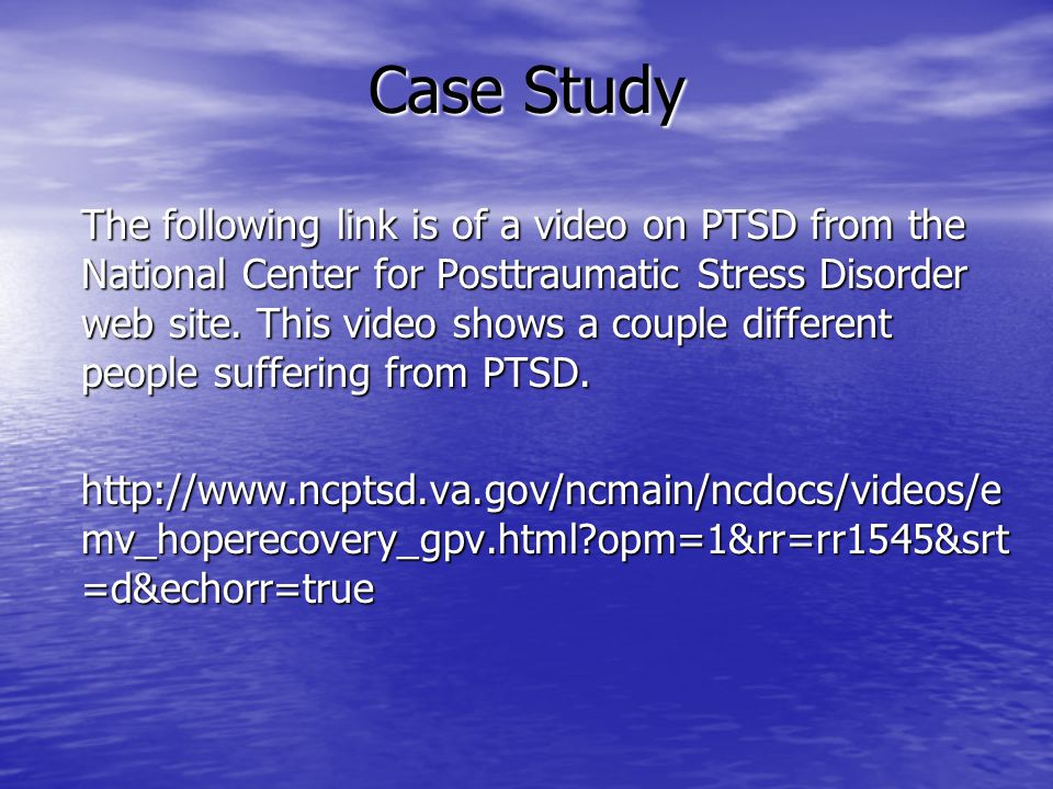 Research paper post traumatic stress disorder