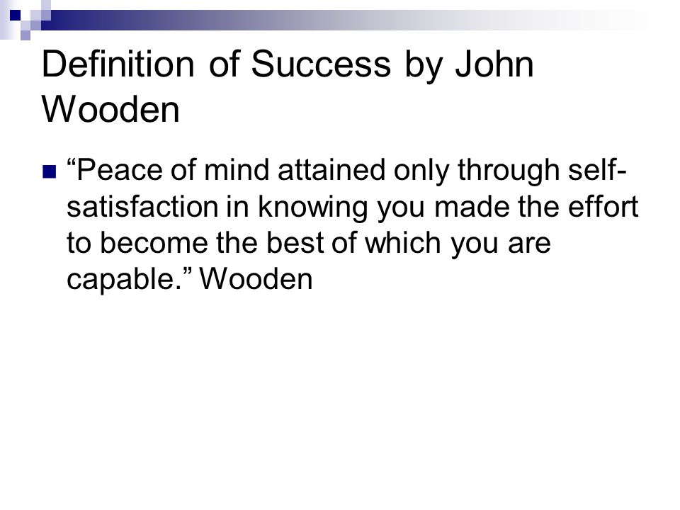Definition of Success by John Wooden