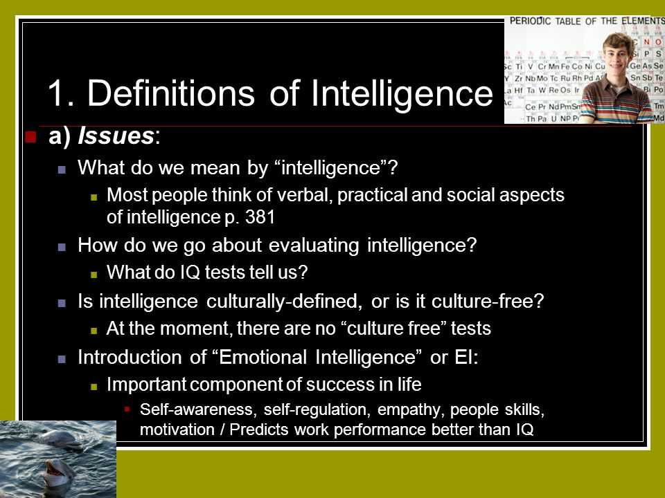 1. Definitions of Intelligence