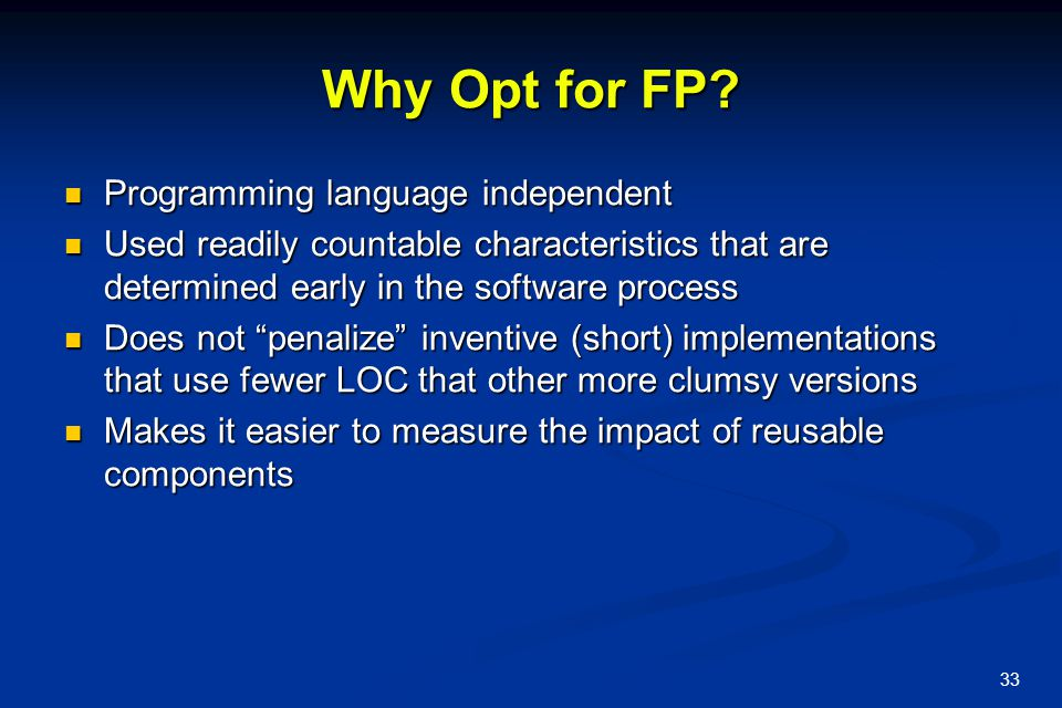 Why Opt for FP Programming language independent