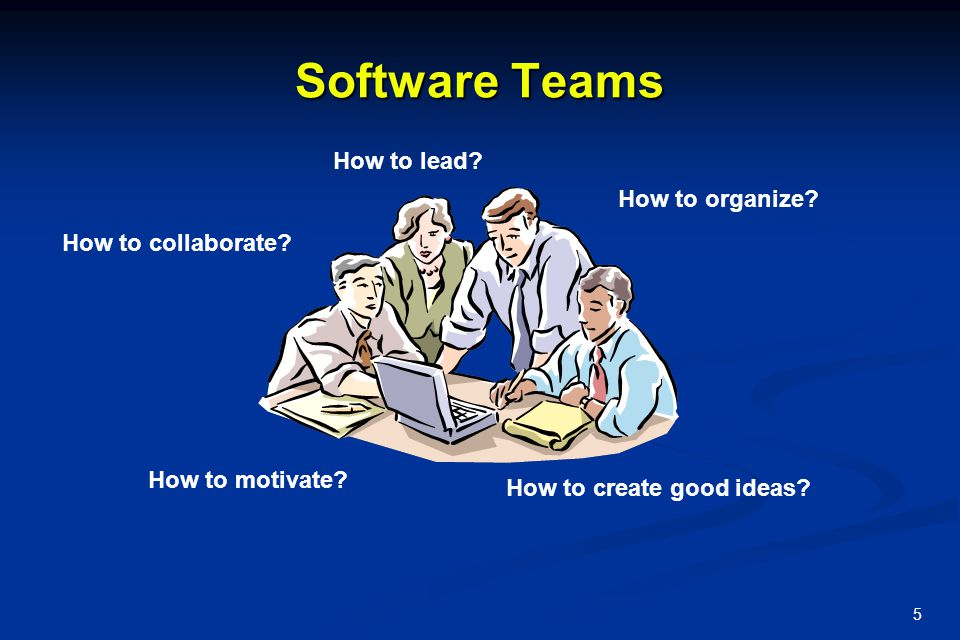 Software Teams How to lead How to organize How to collaborate