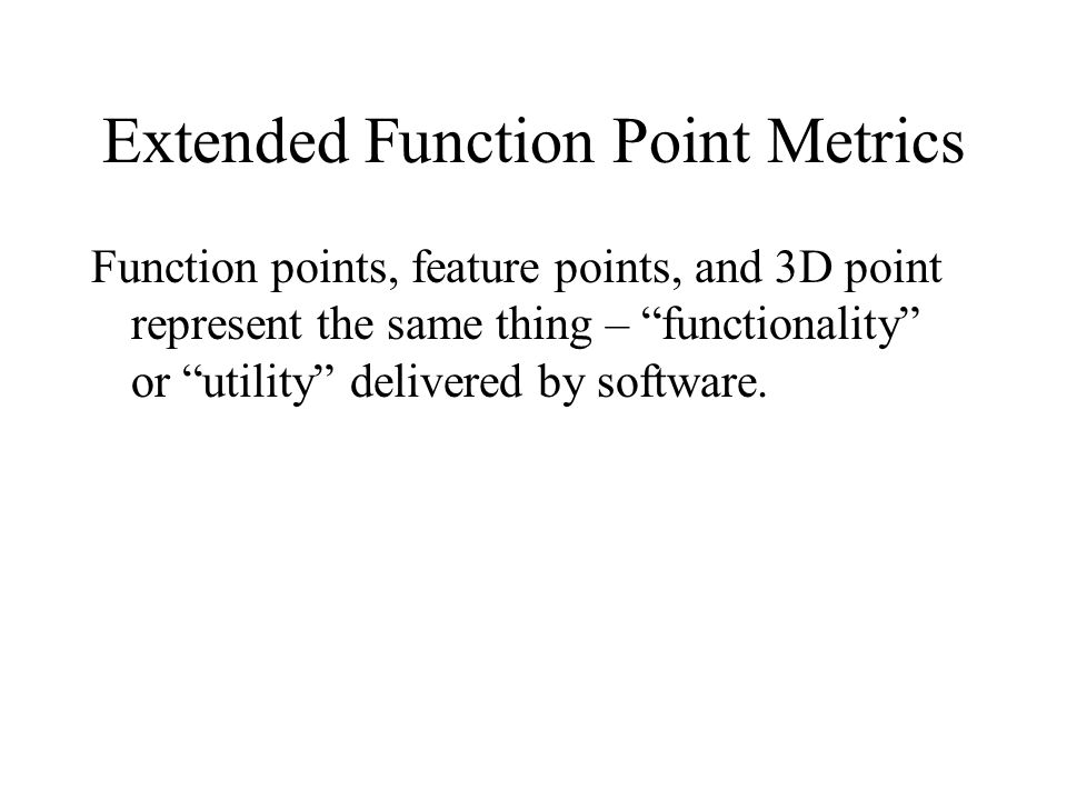 Extended Function Point Metrics