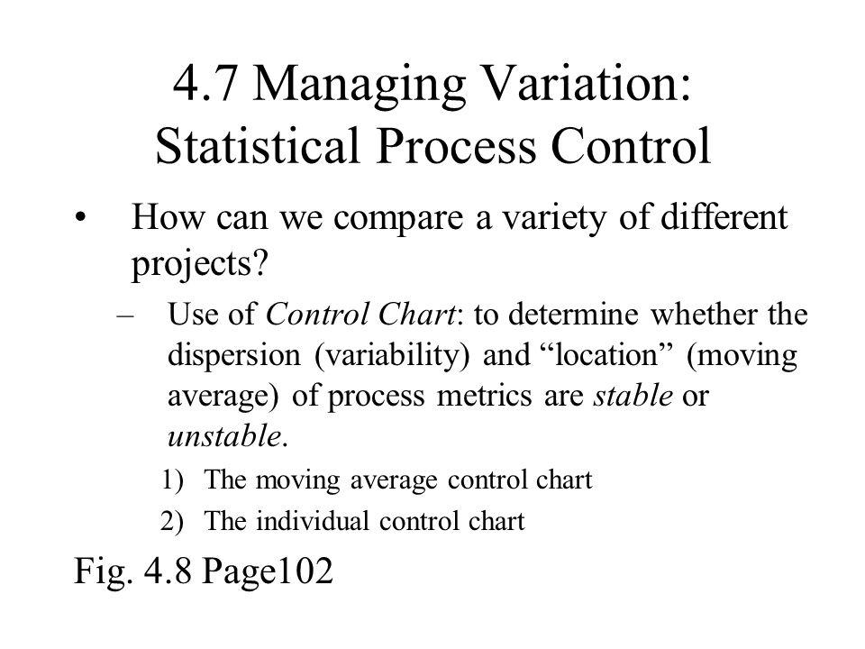 4.7 Managing Variation: Statistical Process Control