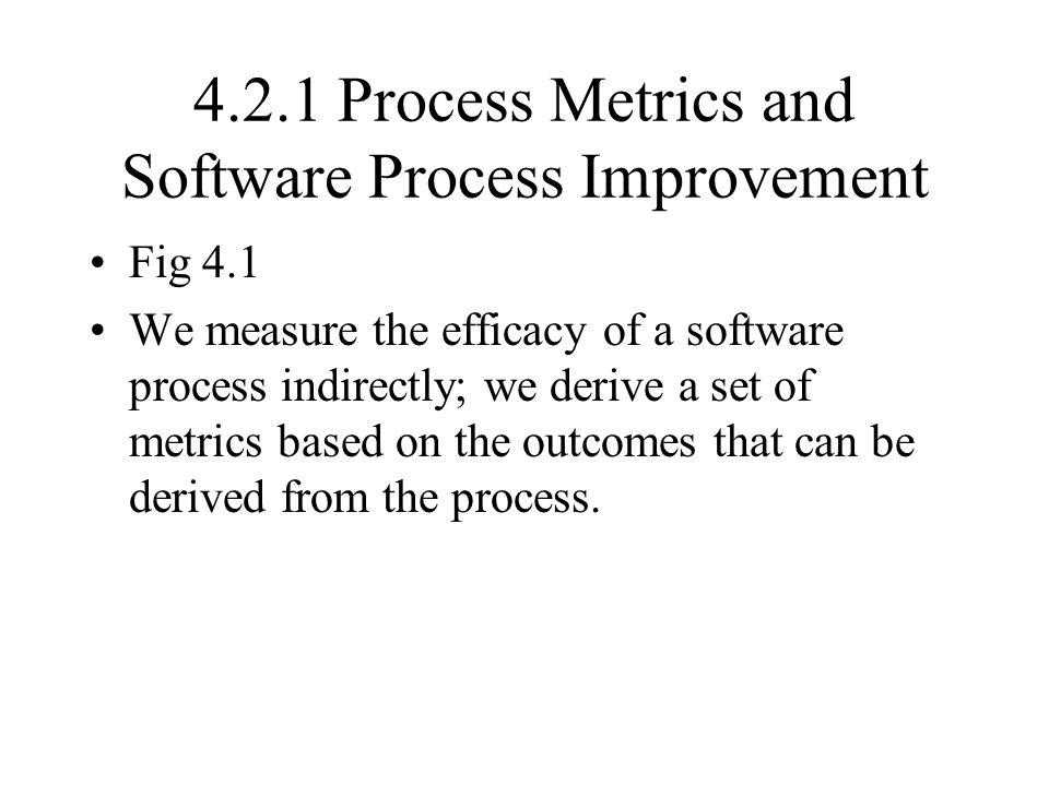 4.2.1 Process Metrics and Software Process Improvement