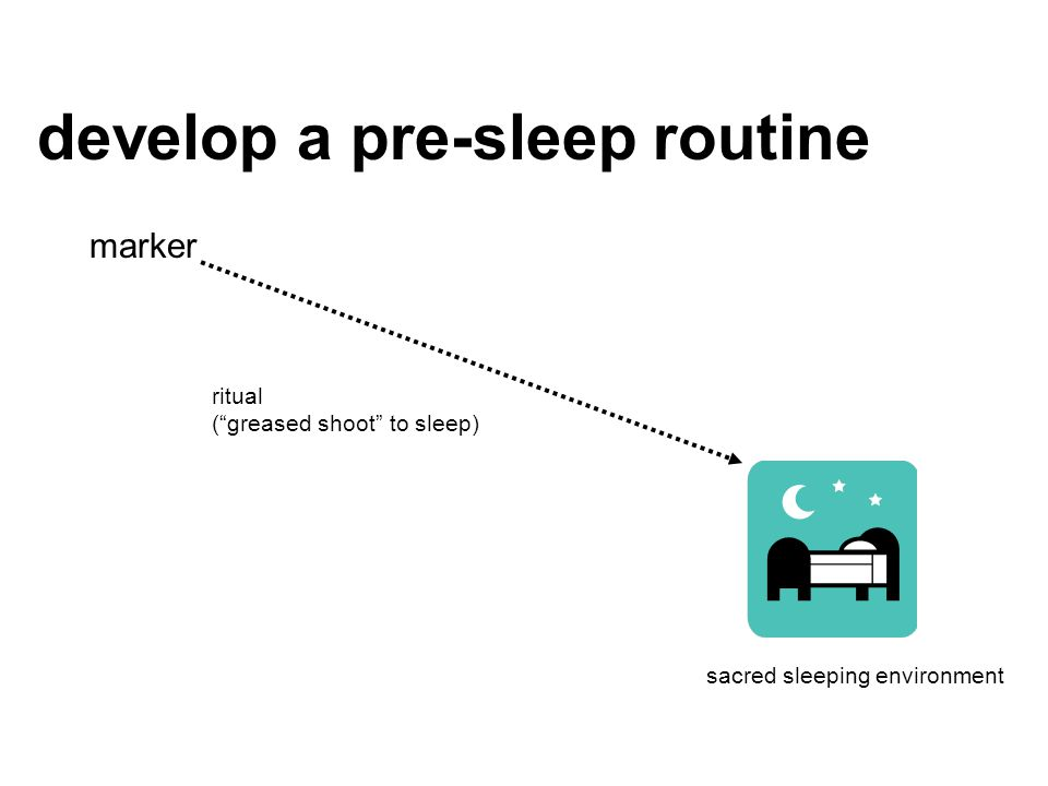 develop a pre-sleep routine
