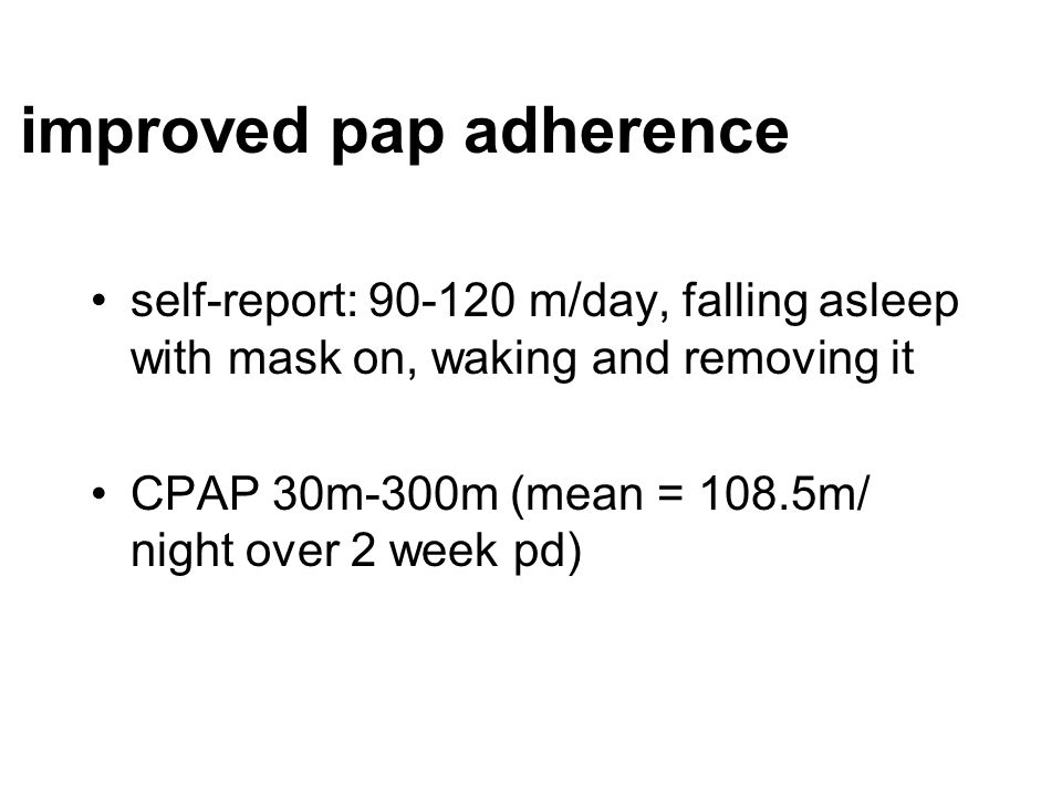 improved pap adherence
