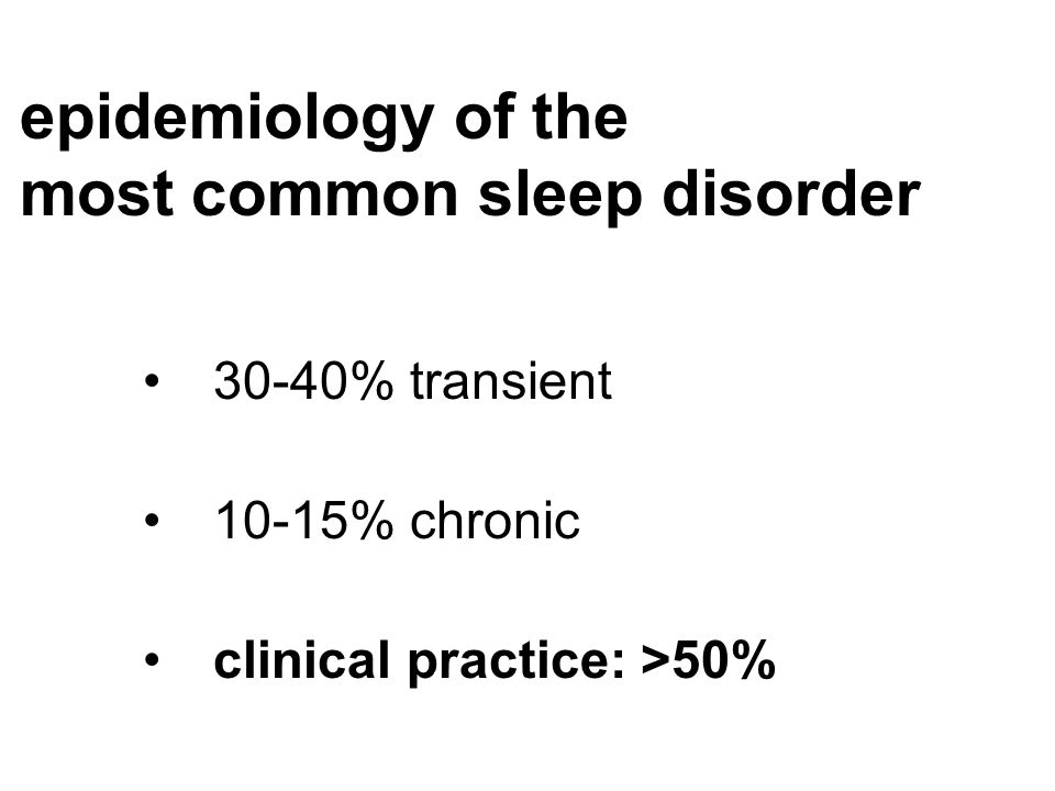 most common sleep disorder