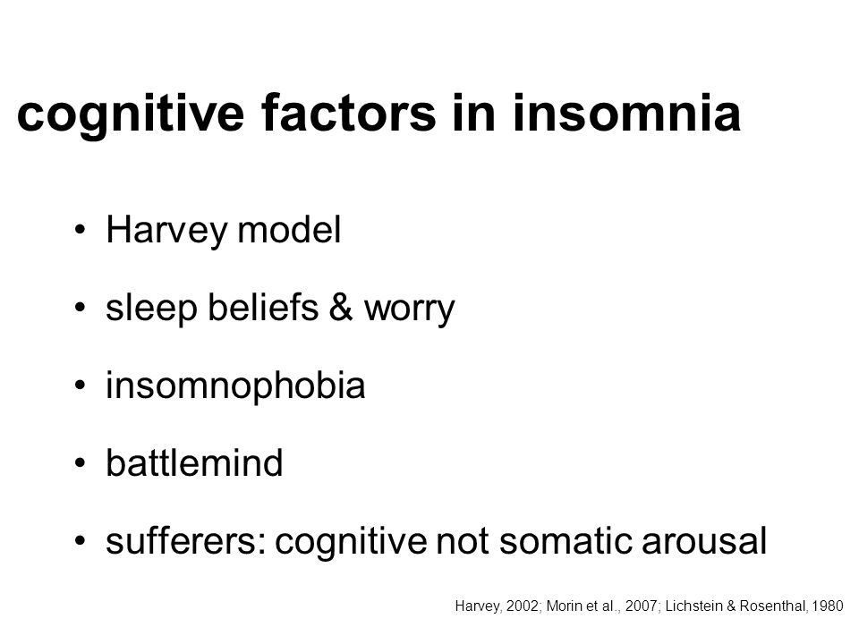 cognitive factors in insomnia
