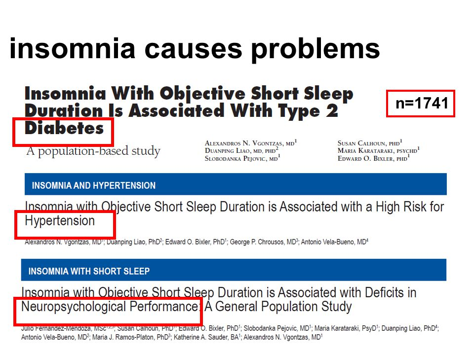 insomnia causes problems