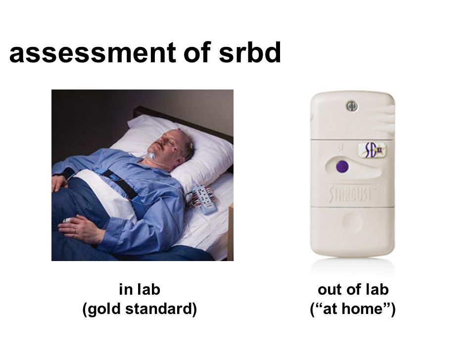 assessment of srbd in lab (gold standard) out of lab ( at home )