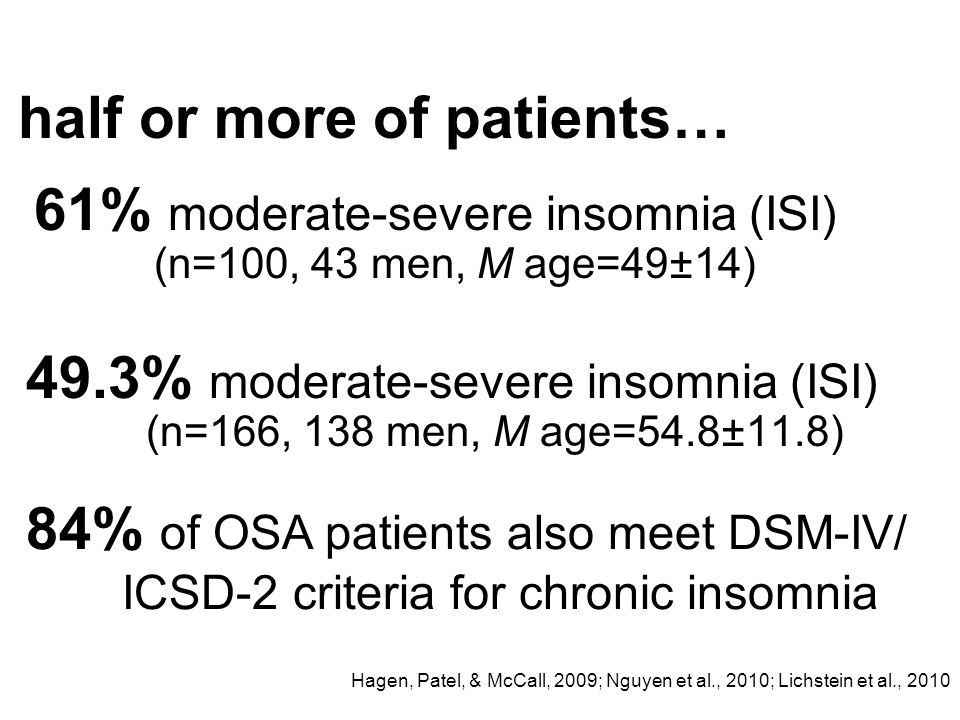 half or more of patients…