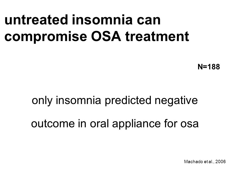 untreated insomnia can compromise OSA treatment